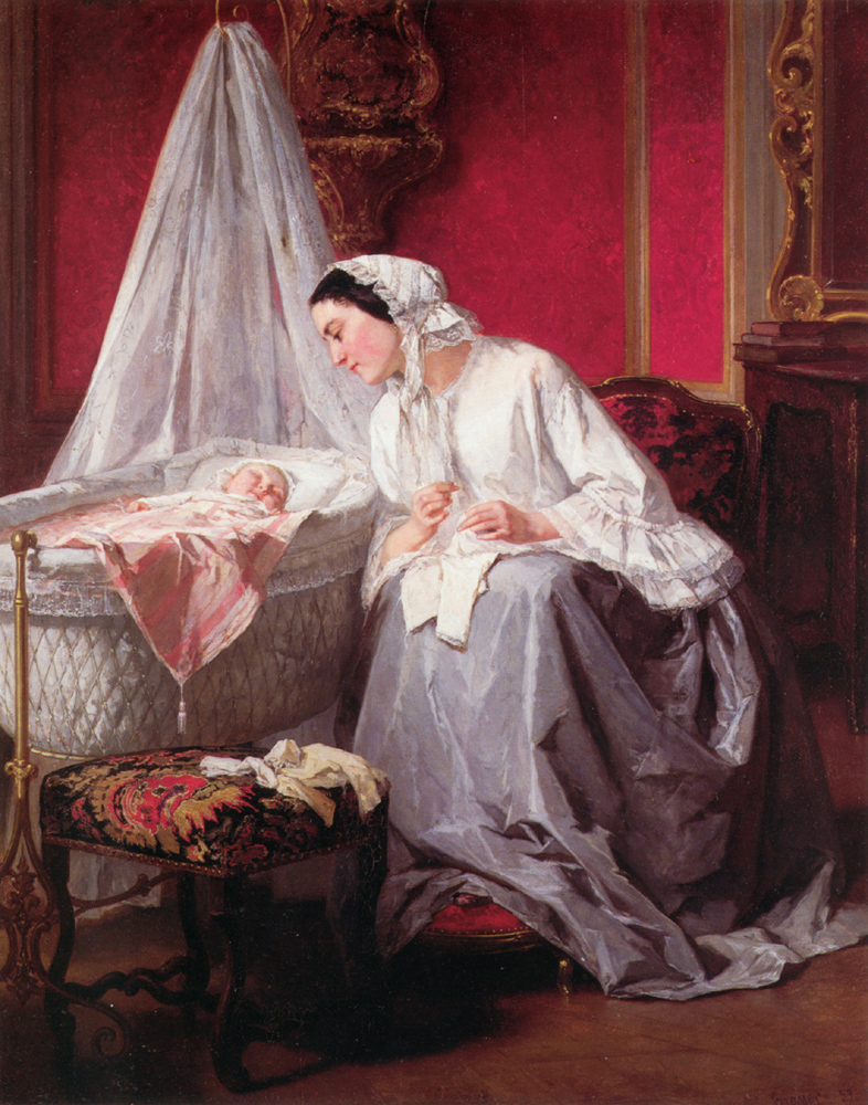 """A Tender Moment""  1859. Jules Trayer Private collection"